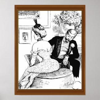 Le lömsk för man för Mitt--Århundrade damkorsett Poster