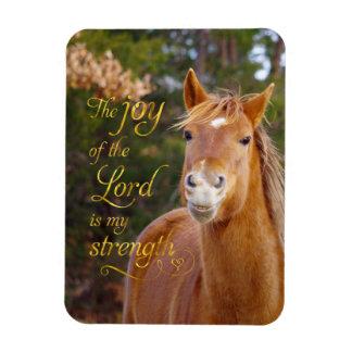 Le magneten för foto för hästbibelcitationstecken magnet