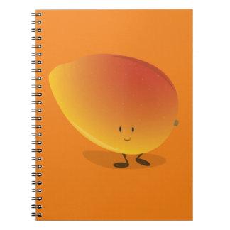 Le mangoteckenet anteckningsbok med spiral