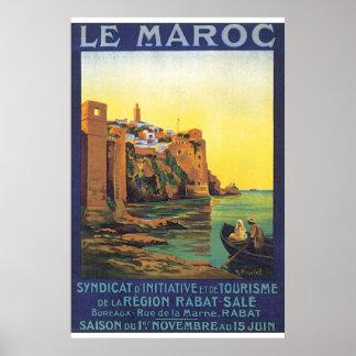 Le Maroc vintage resoraffisch Poster
