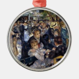 Le Moulin de la Galette av Pierre Auguste Renoir Julgransprydnad Metall