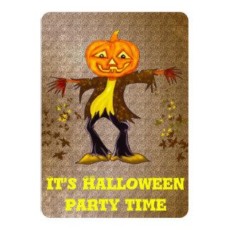 Le och dansa den Halloween fågelskrämman 12,7 X 17,8 Cm Inbjudningskort