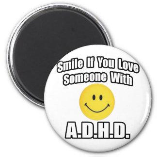Le, om du älskar någon med A.D.H.D Kylskåpsnagnet
