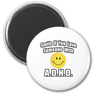 Le, om du älskar någon med A.D.H.D Kylskåps Magneter