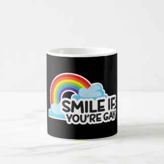 Le, om du är glad pride för regnbåge LGBT Kaffemugg