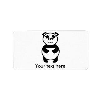 Le pandabjörnen adressetikett