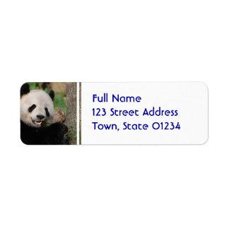 Le Pandabjörnen Returadress Etikett