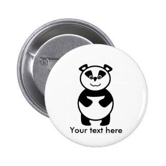 Le pandabjörnen standard knapp rund 5.7 cm