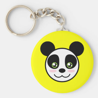 Le pandaen rund nyckelring