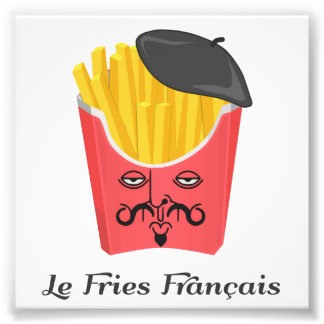 Le-pommes frites från frankriken fototryck