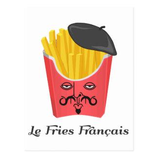 Le-pommes frites från frankriken vykort