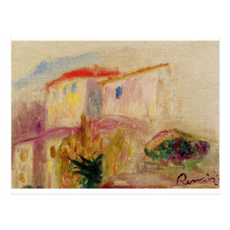 Le Posta på Cagnes (studien) Pierre-Auguste Renoir Vykort