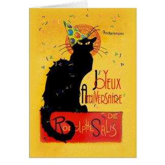 Le Prata Noir - Joyeux Anniversaire Hälsningskort