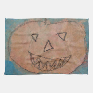 Le pumpa, lurar Halloween konstvattenfärg Kökshandduk