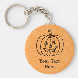 Le pumpkin.en rund nyckelring