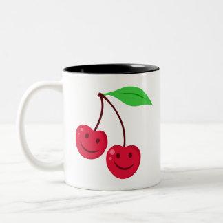 Le röda körsbär Två-Tonad mugg