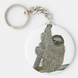 Le slothen Keychain Rund Nyckelring