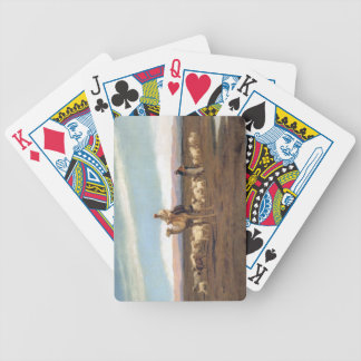 Leda flocken för att beta (olja på kanfas) spelkort