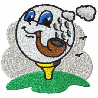 Leda i rör att röka golfbollen broderade skjortan