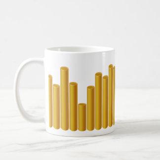 Leda i rör mönster kaffemugg