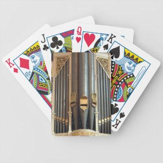 Leda i rör organ som leker kort - det Sydney stads Spelkort