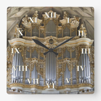 Leda i rör organ tar tid på med roman tal fyrkantig klocka