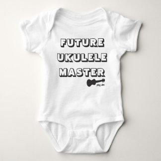 Ledar- bebisromper för framtida Ukulele T Shirt