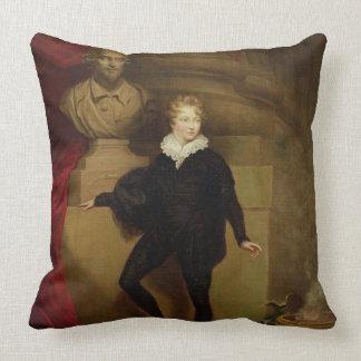 Ledar- Betty som Hamlet för en byst av Shakespear Kudde