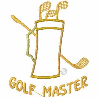 Ledar- broderad skjorta för Golf Polo Tröja