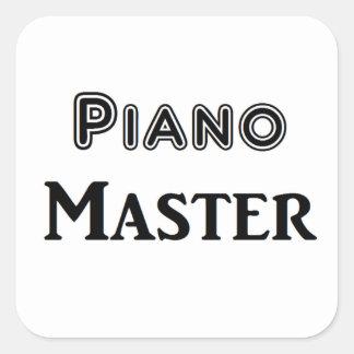 Ledar- piano fyrkantigt klistermärke