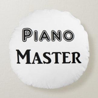 Ledar- piano rund kudde