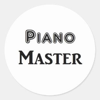 Ledar- piano runt klistermärke