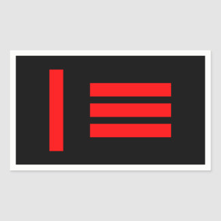 Ledar-/slava Rektangulärt Klistermärke