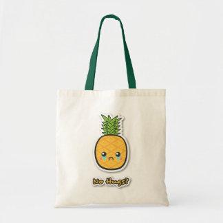 Ledsen ananas som får inga kramar tygkasse