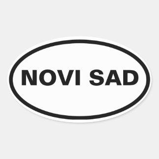 Ledsen för FYRA Novi Ovalt Klistermärke