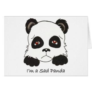 Ledsen Panda Hälsningskort