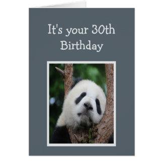 Ledsen Pandabjörn 30th trettio grattis på Hälsningskort