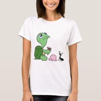 Ledsen sköldpaddalyckligmyra tee shirt
