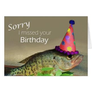 Ledset missa jag din födelsedag hälsningskort
