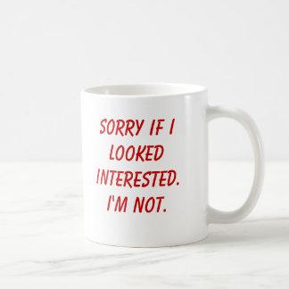 Ledset, om jag såg intresserad. Mig förmiddag inte Kaffemugg