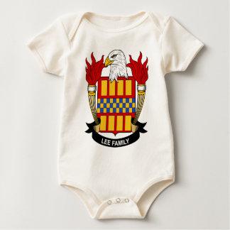 Lee familjvapensköld body för baby