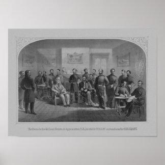 Lee som kapitulerar på Appomattox -- Inbördeskrig Poster