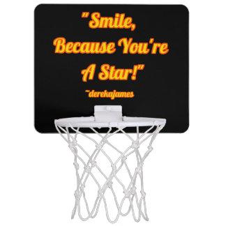 Leende, därför att du är en stjärna!  Basketring Mini-Basketkorg