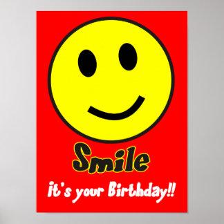 Leende. Det är din födelsedag! Poster