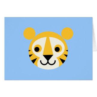 Leende för stora katter för katt för tigertigrar hälsningskort