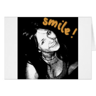 leende hälsningskort