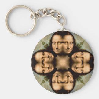 Leende med Mona Lisa Rund Nyckelring
