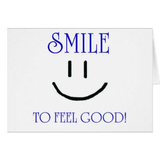 leende till känselförnimmelsebran hälsningskort