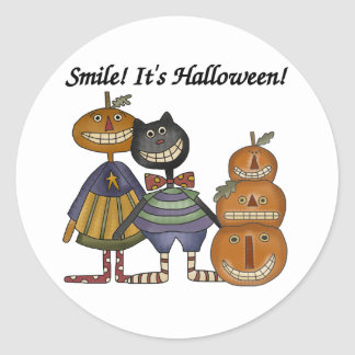 Leendet är det Halloween Runt Klistermärke