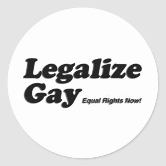 Legaliseraa bög runt klistermärke